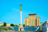Famous Independence Monument. Kiev, Ukraine