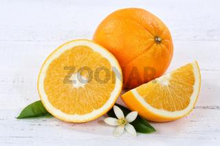 Orangen Orange Frucht Früchte Holzbrett