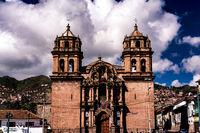 Church at San Pedro Square in Cusco (Iglesia la Compania de Jesus), Peru