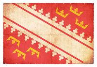 Grunge flag of Alsace (France)
