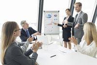 Business team at presentation