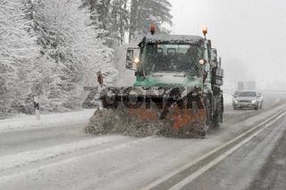 Schneeräumer im Einsatz