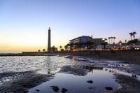 Sunset at Maspalomas Beach, Gran Canaria