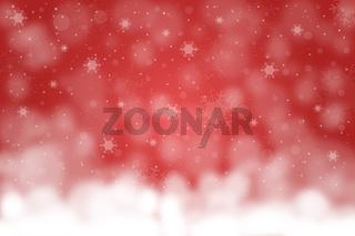 Roter Hintergrund Weihnachten mit Schnee