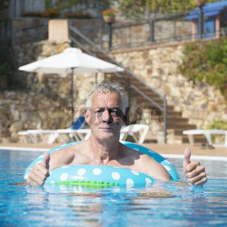 Man having fun at vacation