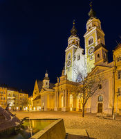 night view of Cathedral in South Tyrol