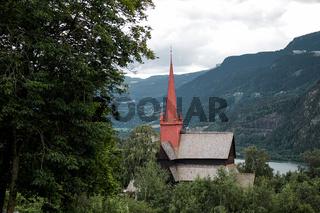 Stabkirche aus dem 13. Jahrhundert in Ringebu, Norwegen