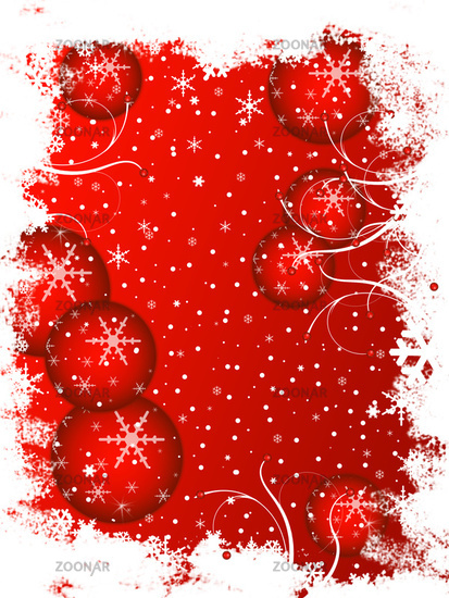 frosty Christmas Card Red