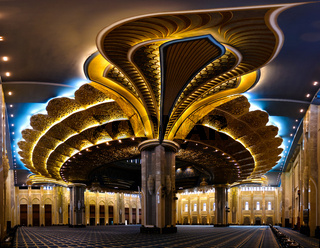 Kuwait Grand Mosque interior, Kuwait-city, Kuwait