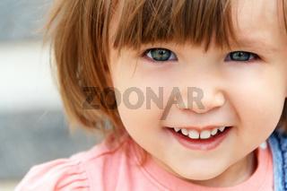 Caucasian girl with short hair