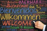 Herzlich willkommen in vielen Sprachen