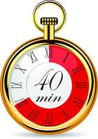 mechanical watch timer 40 minutes
