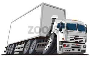 Cartoon delivery / cargo semi-truck