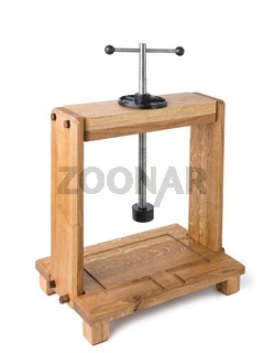 Wooden press for cheese