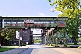 Gebäude und Strasse Zeche Westfalen Ahlen Deutschland