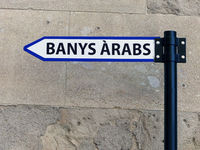 Sign to arabic baths - Point of interest