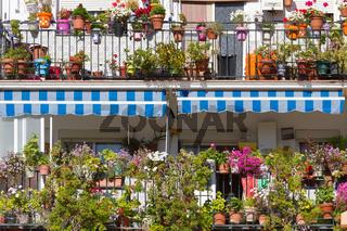 Hausfassade in Ronda Spanien