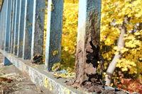 rusty railing