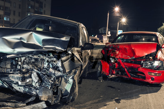 Night car accident