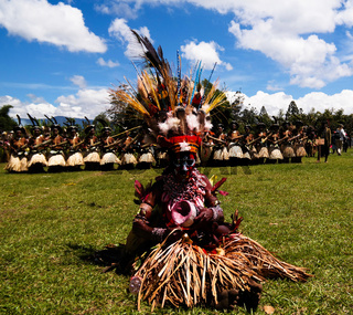 Participants of the Mount Hagen local tribe festival, Papua new