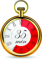 mechanical watch timer 35 minutes