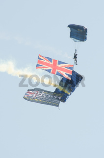 British Army Parachutists at Clacton free airshow