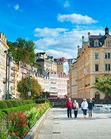 People at Karlovy Vary resort