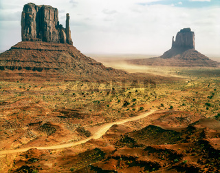 Mittens in Monument Valley, Arizona