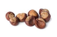 Ripe chestnuts