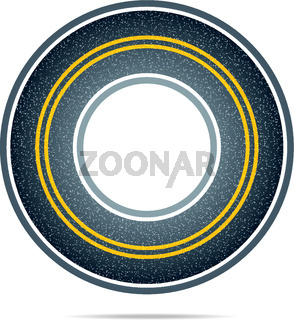 Highway in a circle with asphalt texture