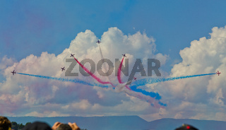 KUNST FLUGSTAFFEL RED ARROW, GBR, GROSSBRITANNIEN,