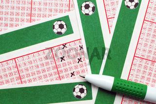 Toto/Lotto Scheine mit Stift