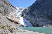 Briksdal glacier in summer 2009