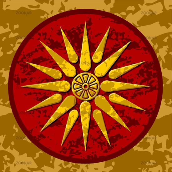 Macedonia symbol color vector