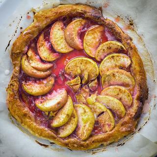 Freshly baked homemade apple cake