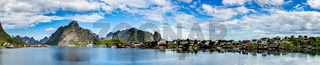 Panorama Lofoten archipelago islands