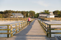 Pier in Prerow, Baltic Sea, Darss, Mecklenburg Vorpommern, Germany