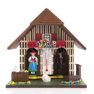 Miniature weather house