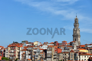 Clerigos Church Tower and Houses in Porto