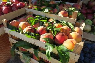 Fresh big peaches