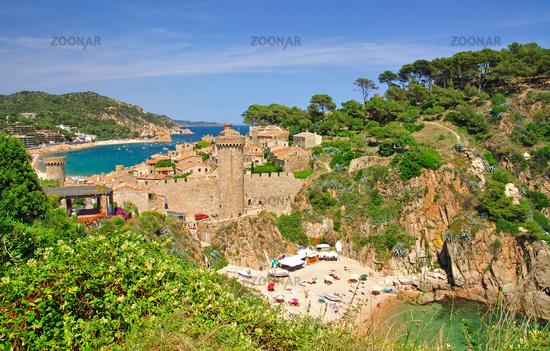 Tossa de Mar on the spanish Costa Brava