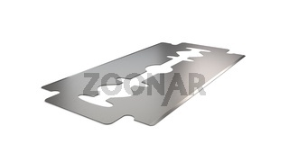Razor blade angle vew 3d illustration