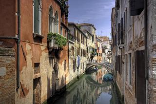 A small channel in Venice