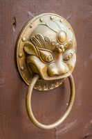 Door Knocker on old wooden door