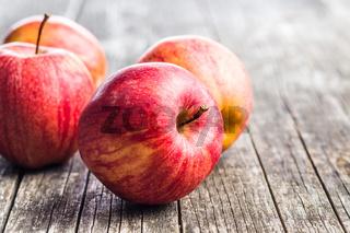 Fresh red apples.