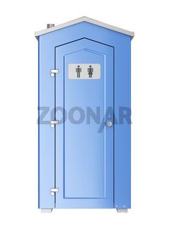 Mobile plastic toilet