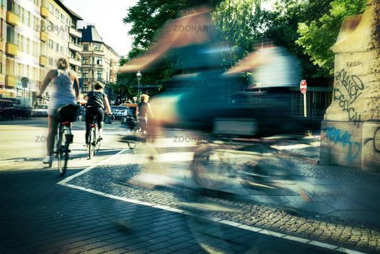 in Berlin traffic