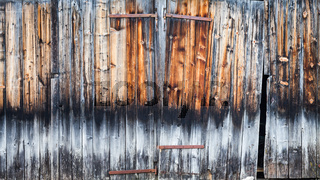Old wood door