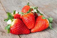 Pile of Fresh strawberries
