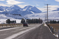 Road through the Southern Alps New Zealand